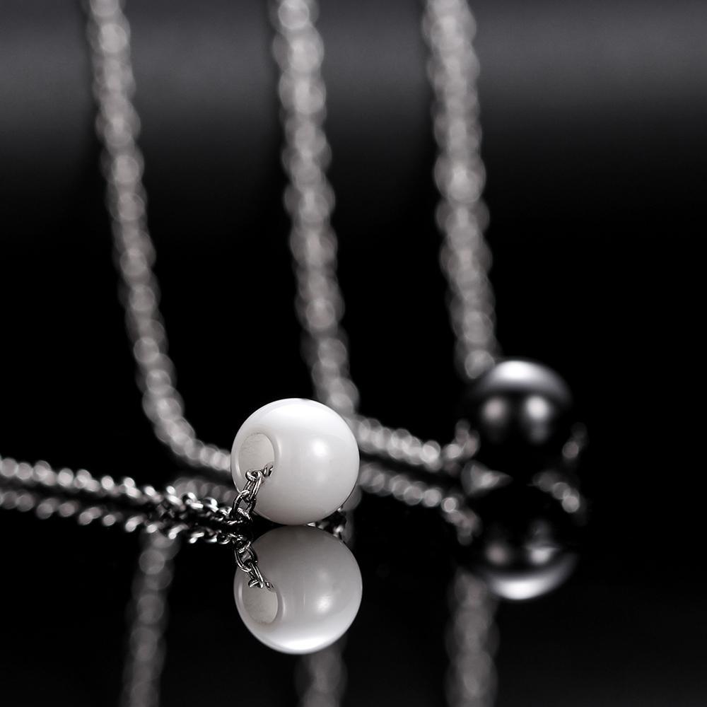 Mode Perlen Halskette Für Frauen Einfache Keramik Perle Charme Anhänger Halskette Sommer Schmuck Zubehör Beste Geschenk Design