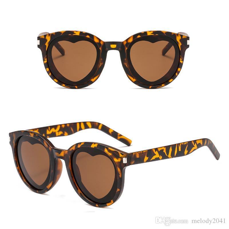 768b938785 2019 New Fashion Heart Sunglasses PC Round Frame Loving Women Sun Glasses  UV400 Eyeglasses Wholesale Cheap Designer Sunglasses Sunglasses From  Melody2041