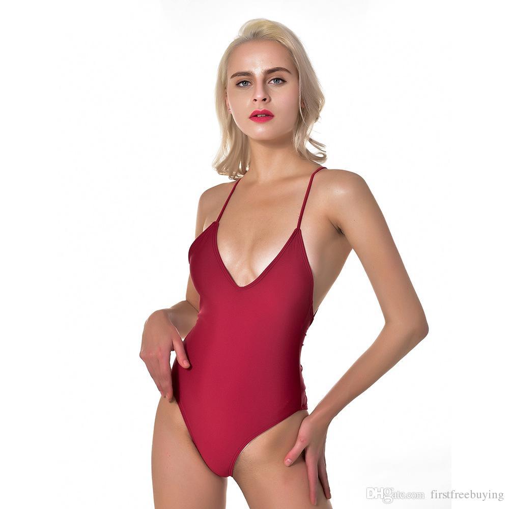 3b79444185 Acheter Dos Nu Femmes Bikini De Luxe Designer Beachwear Pour Dame Taille  Haute Bikini Bandage Maillots De Bain Une Pièce Femme Maillot De Bain  Bikini De ...