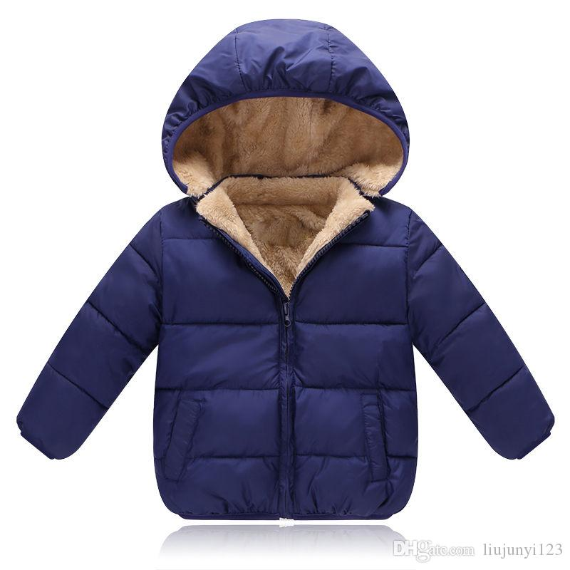 08d1bca29c04 Boys Winter Coats Kids Casual Thick Velvet Down Parkas For Baby Boys Girls  Children Sports Hoodies Clothing Toddler Jackets Outerwear Winter Goose  Down ...