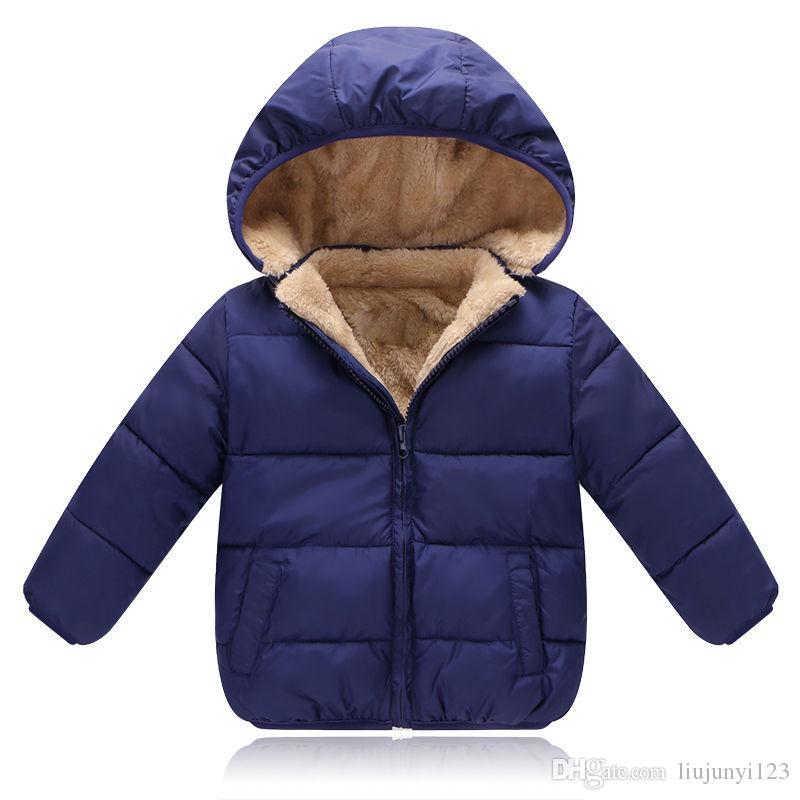 896c2c315 Niños abrigos de invierno para niños ocasionales gruesos de terciopelo  parkas para bebés niños niñas niños deportes sudaderas con capucha ropa ...