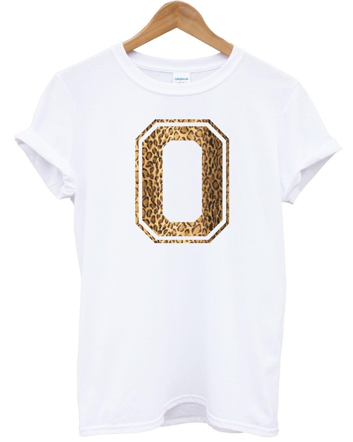 O Leopard Letter Printed T Shirt Mens Womens Kids Personal Zebra Animal  Graphic Men Women Unisex Fashion Tshirt T Shirts For Sale Printed T Shirt  From ... 8b920f73be