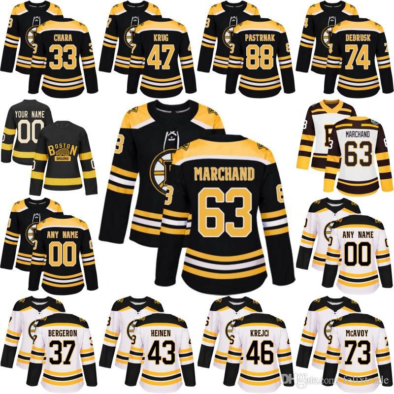 1d9dc0bc481 Acquista Womens Lady Boston Bruins David Pastrnak Patrice Brad Marchand Zdeno  Chara Charlie McAvoy David Krejci Torey Krug DeBrusk Jersey A  34.51 Dal ...