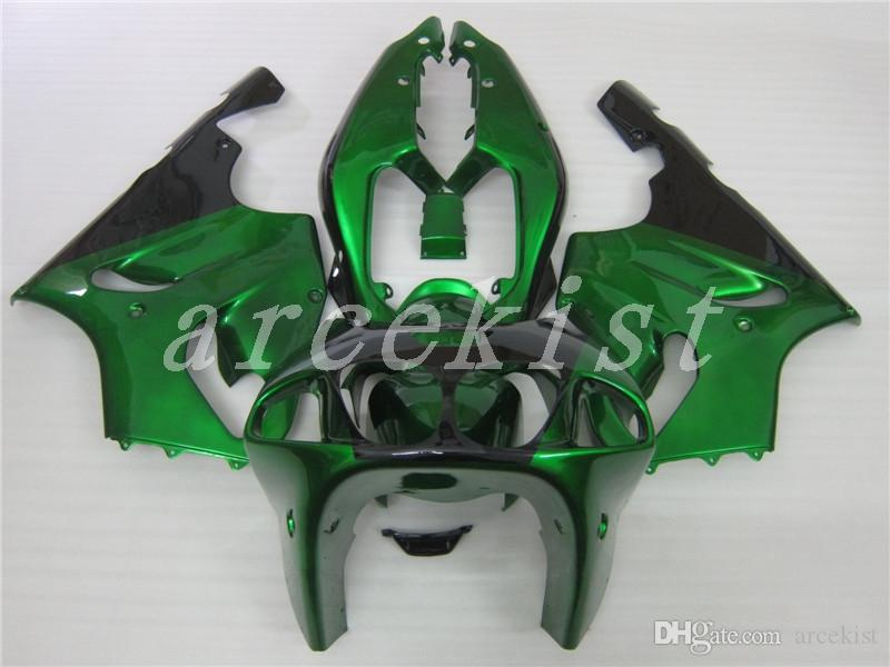 New Full fairings kit set Fit For KAWASAKI NINJA ZX-7R ZX7R ZX 7R 1996 1997 1998 1999 2000 2001 2002 2003 ABS Fairing custom green black
