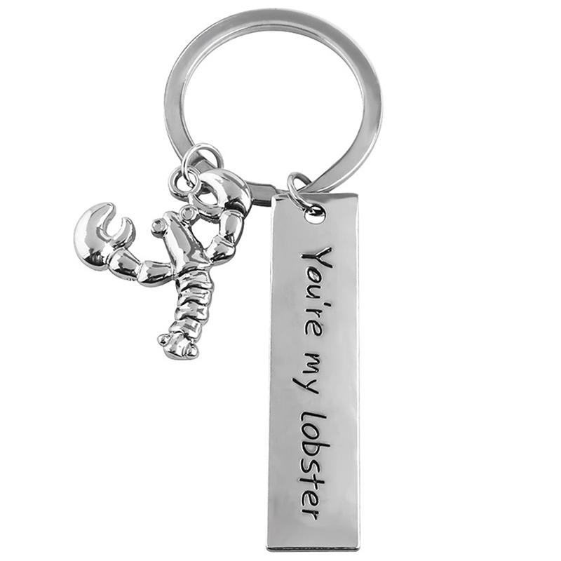 Cute Lobster Keychain Letter You Re My Lobster Logo Key Chain For Women Men  Car Keyring Best Friend Gift Valentine S Day Present Promotional Keyrings  Custom ... a6aae0475a