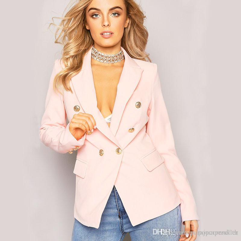 Fashionable New Womens Suits Formal Wear Unbuttoned Generous and Decent Outfit Designer Long Sleeve Women Clothing