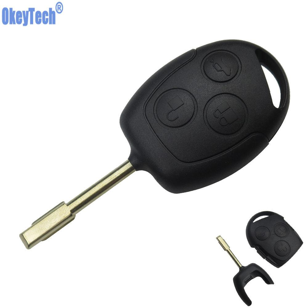 3 Buttons Blade Uncut Remote Car Key Shell Case Fob Covers For Ford Focus Mondeo Festiva Fusion Suit Fiesta Ka No