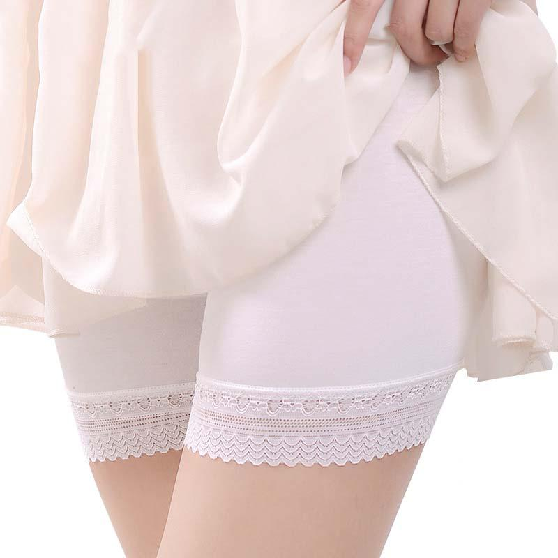 High quality lace modal cotton Body Shaper Safety Short Pants anti-bacterial breathable seamless mid waist ladies underwears C95