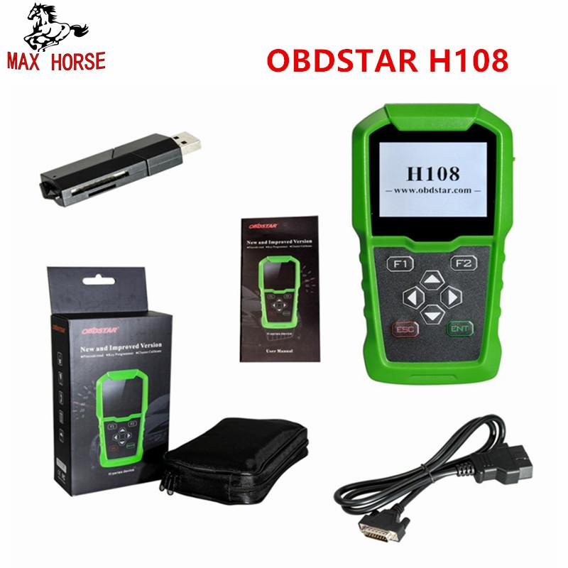 Hot Sale OBDSTAR H108 PSA Programmer All Key Lost Pin Code ReadingCluster Calibrate for Peugeot/Citroen/DS with Can K-line