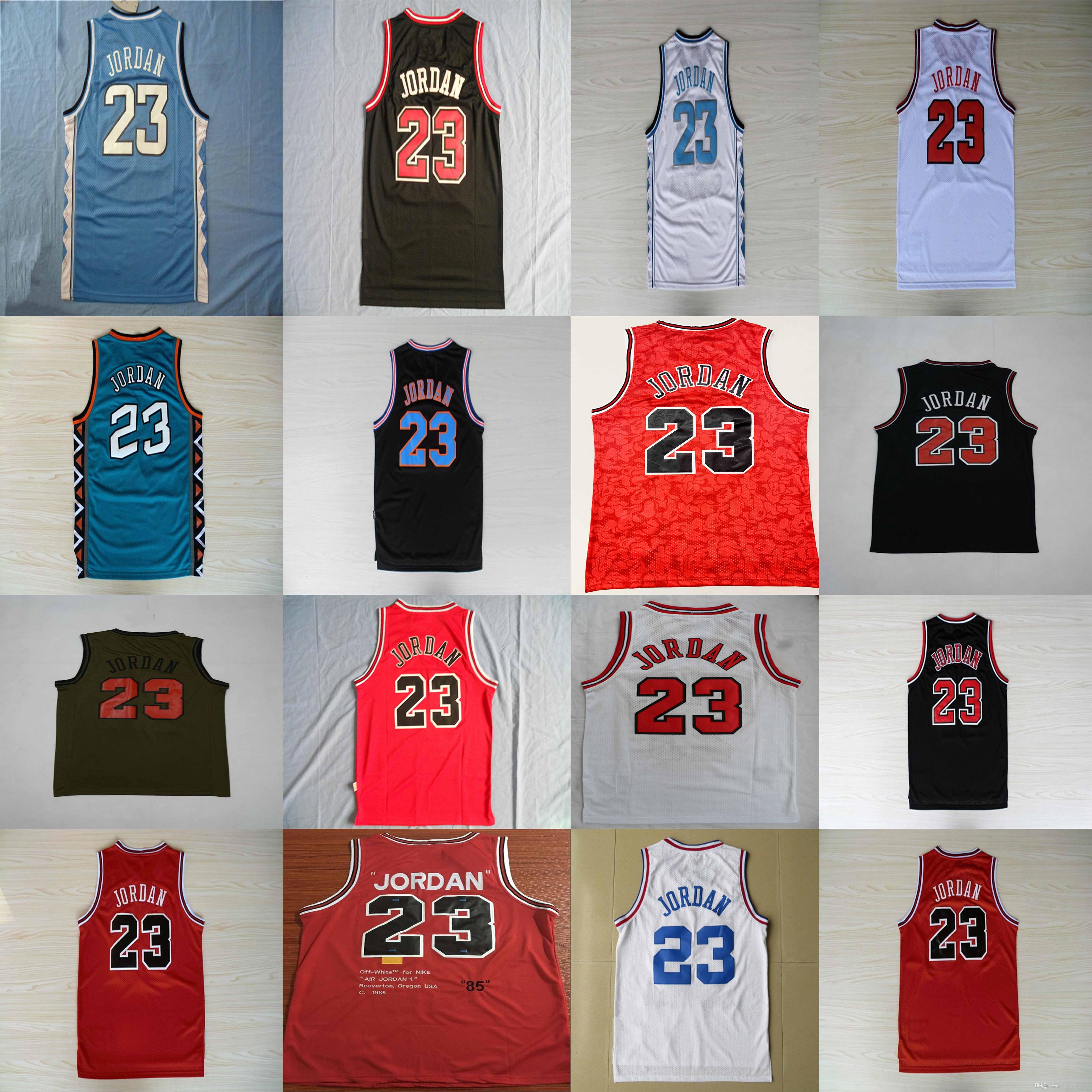 new styles 0f113 27f1a Men's NCAA North Carolina Tar Heels Jersey 23 Michael Jersey Space Jam Tune  Squad Stitched Basketball Jerseys S-XXL