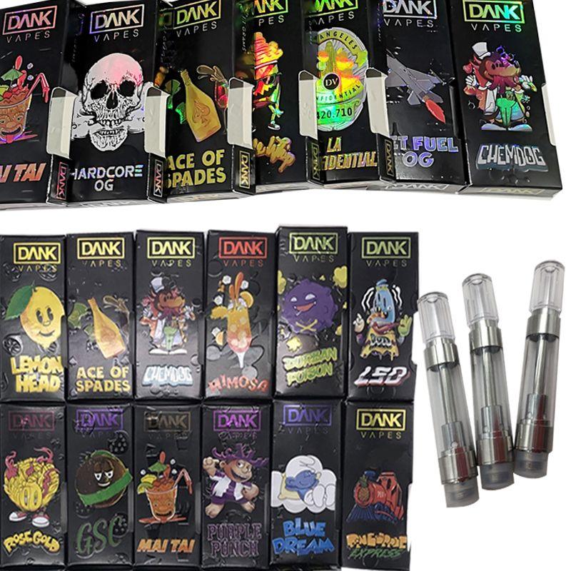 Hologram Dank Vapes 510 Ceramic Cartridge Packaging Empty Vape Pen  Vaporizer 1ML E Cigarettes Vape Cartridges Thick Oil Atomizers