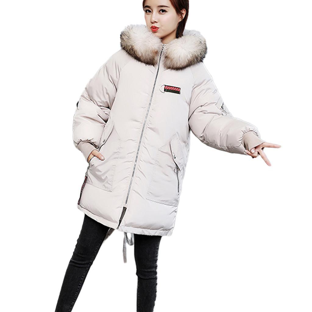 9aa25c4827 Hxroolrp Casaco Das Mulheres Outono Inverno Com Capuz Grosso Quente Jaqueta  Casaco de Pele De Falso Menina chapéu jaquetas feminino chaqueta mujer C3