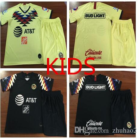 dd25c7d3b 2019 2018 2019 Mexico Club America Soccer Jersey Kids Kit 18 19 C.BLANCO  Home Away D.BENEDETTO R.SAMBUEZA O.PERALTA Kids Soccer Uniforms From  Zhuhao2, ...