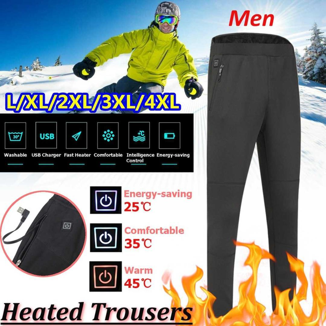 2a1c350105682 Men Winter Outdoor Hiking Heating Fever Trousers Usb Charging High ...