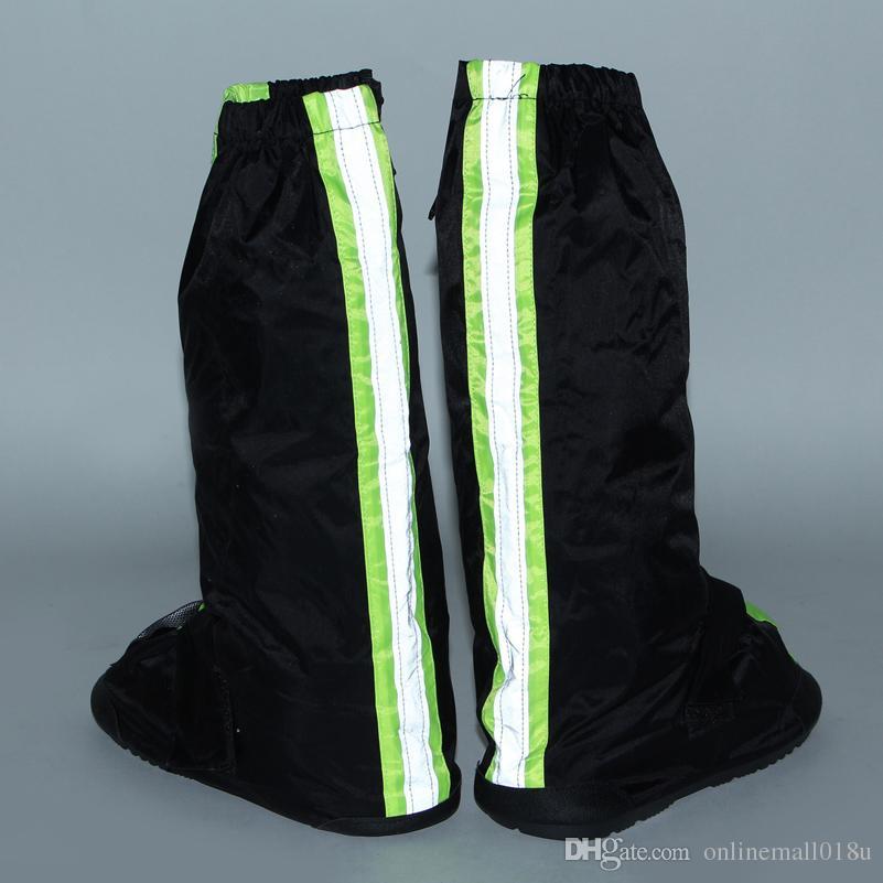chaussures imperméables réutilisables couvrent moto cyclisme pluie bottes moto équitation chaussures couvre antidérapant avec réflecteurs