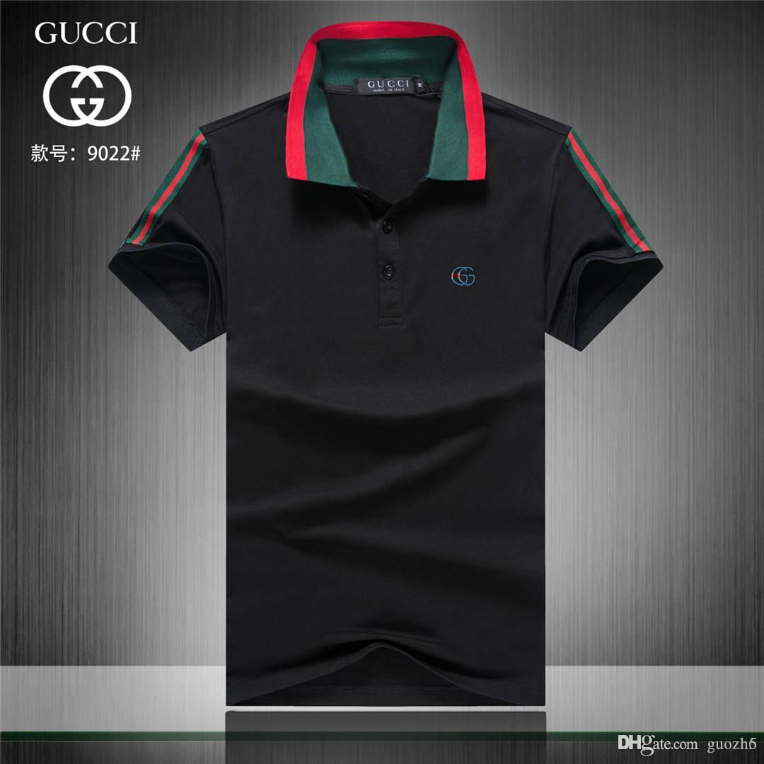 6d0916e57 2019 19ss New Hot Sell Brand Designers Polo Men Short Sleeve Shirts London New  York Chicago Polo Shirt Mens Polo Shirt High Quality Solid C From Guozh6,  ...