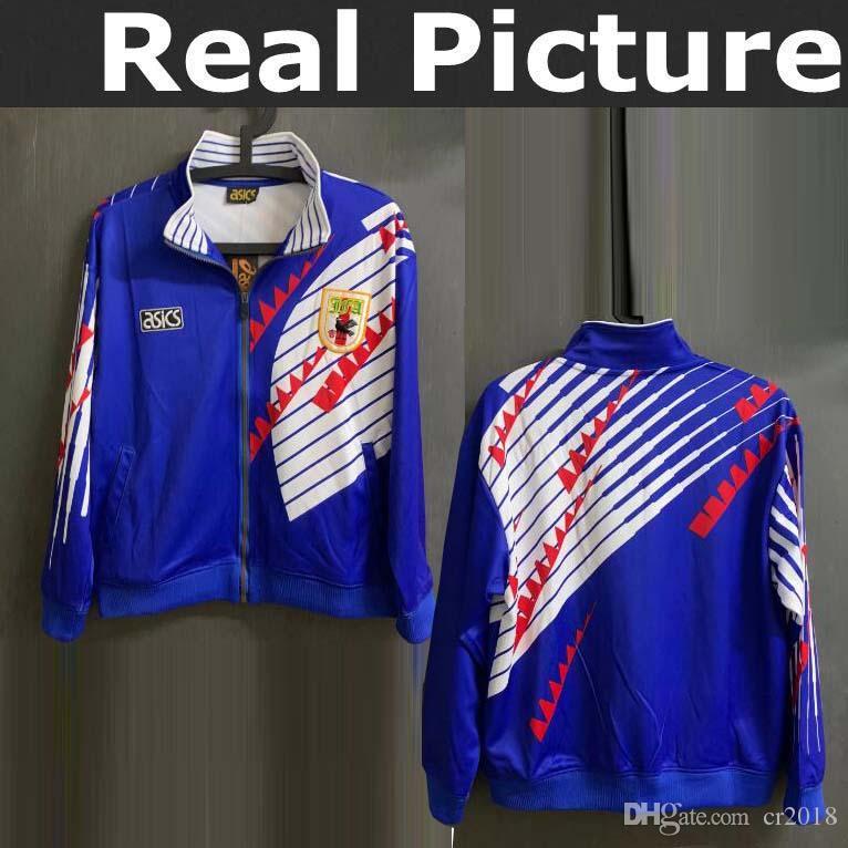 Japón 1994 Chaqueta Chándal Camisetas De Fútbol Soccer TSUBASA HONDA KACAWA  ATOM JERSEY Por Cr2018 4fd3a3855b6