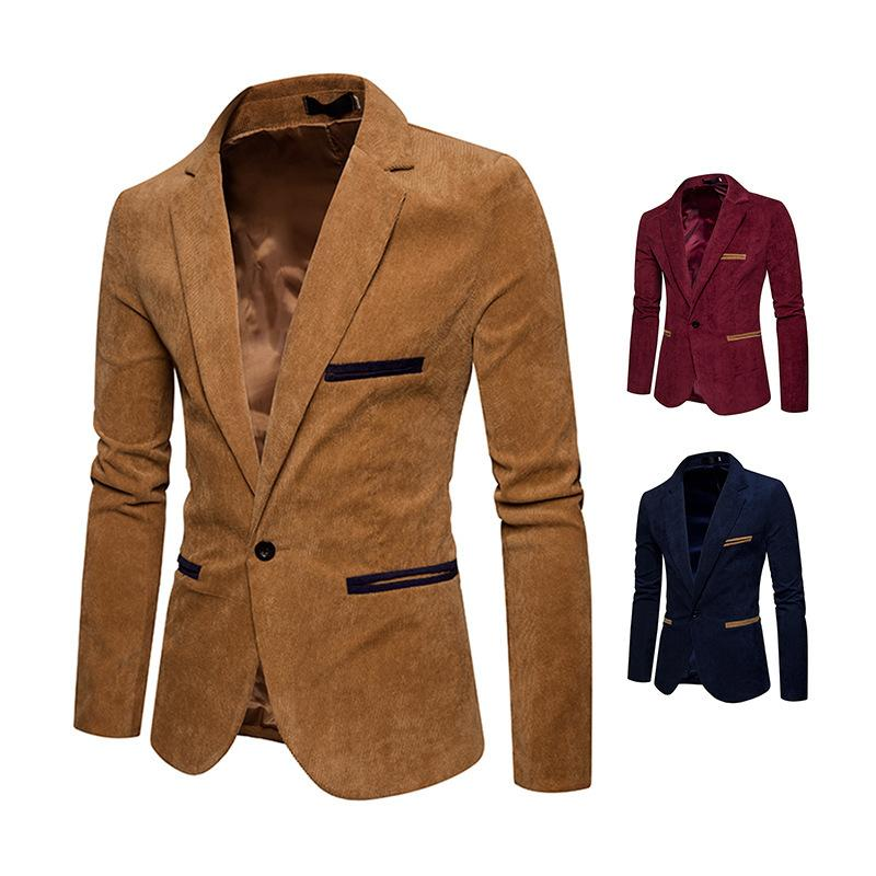 16539279a0d77 2019 ATSLIN New Casual Fashion Men S Plus Size Corduroy Suit Mens Khaki Coat  Men Blazers 2018 From Yuanbai