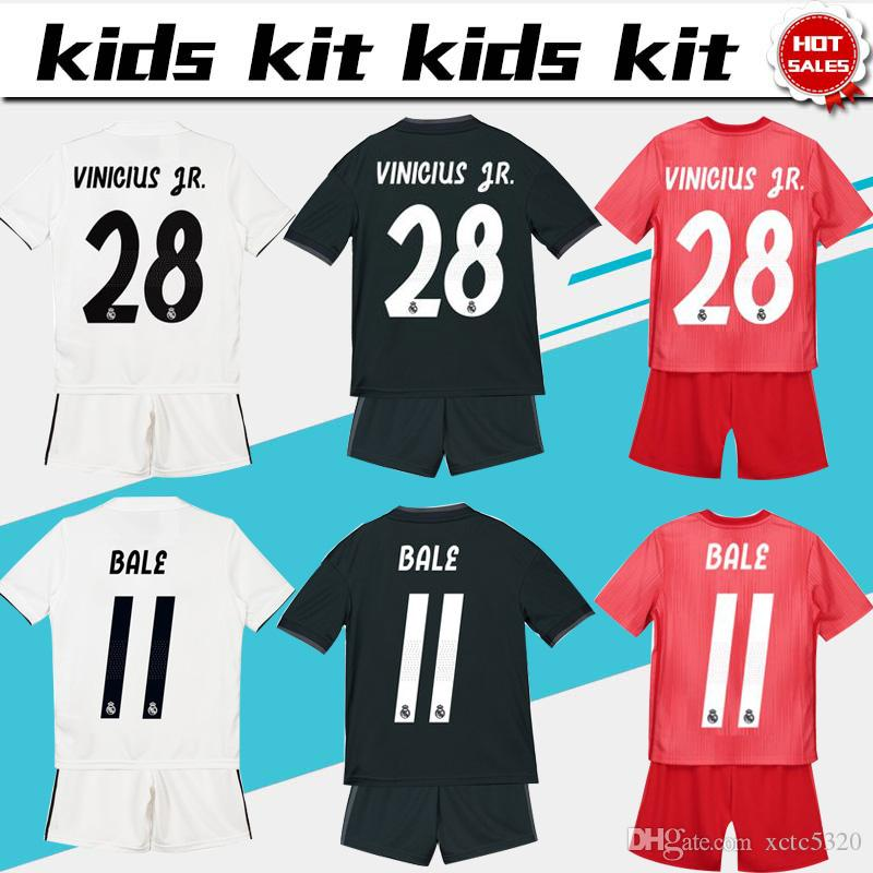 57fb4d28358 Away Boy Soccer Jerseys  4 SERGIO RAMOS Child 3rd Red Soccer Shirts From  Xctc5320