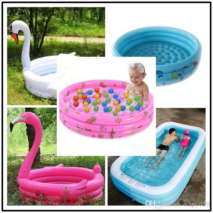 Swimming Pool Shop For Cheap Portable Baby Inflatable Swimming Pool Cartoon Round Basin Water Bathtub Soft Air Cushion Outdoors Summer Water Playing Toys Activity & Gear