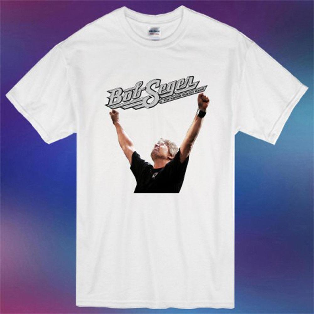 3d7ec53af8a1 New Bob Seger Runaway Tour Famous Musician Logo Men s White T-Shirt ...