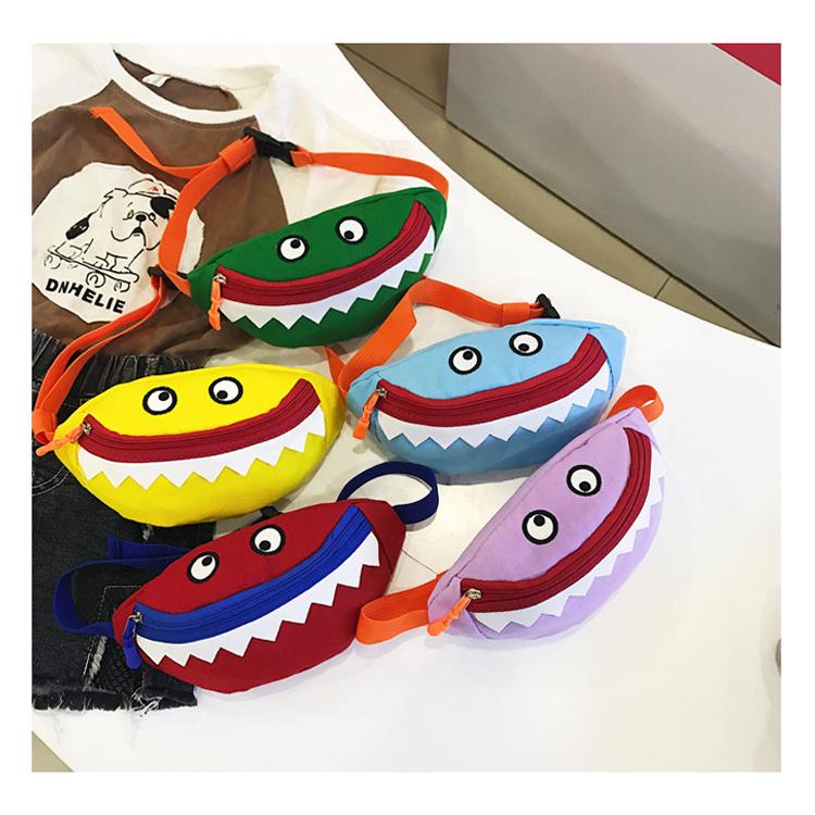 49a8775ed96e 5 colors Cartoon Shark Fanny Pack Phone Waist Bags Money Chest Bag mini  Messenger bag Kids Crossbody Totes Baby Shark purse DHL JY194