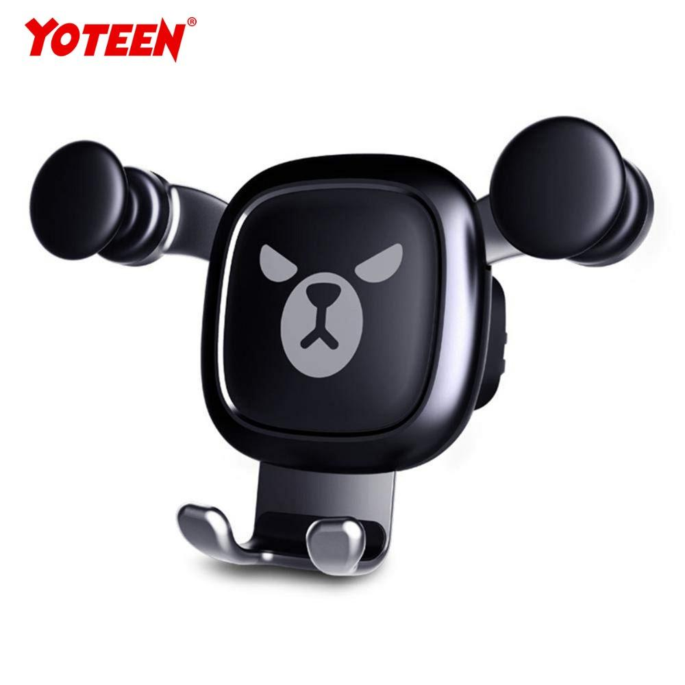 Yoteen Gravity Auto-Clamping Air Vent Dashboard Car Phone Mount Holder Hands Free for iPhone X/8/8Plus/7/7Plus/6s/6P/5S