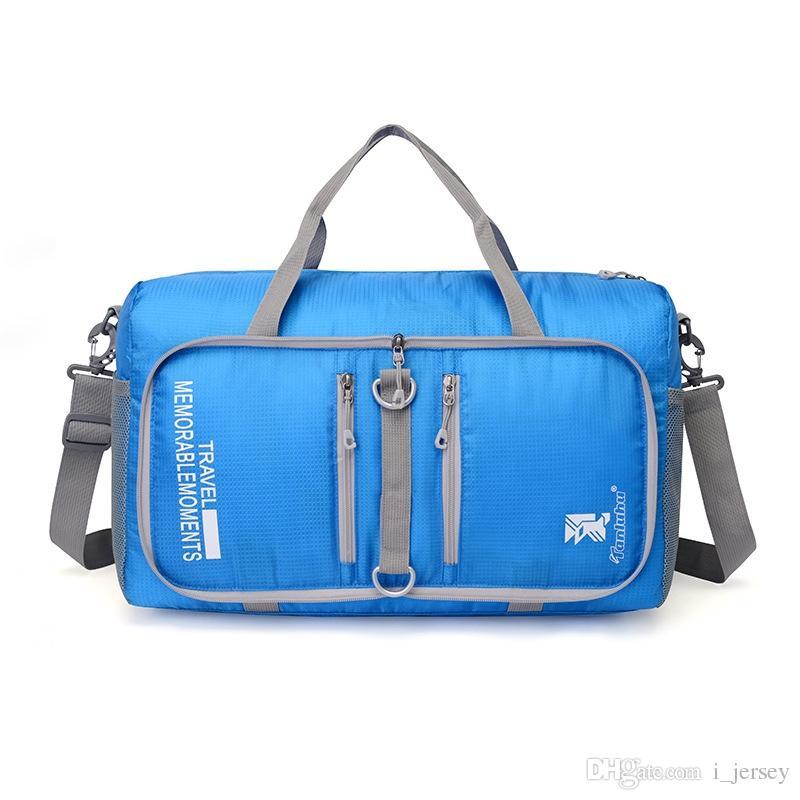 2703d52c4b98 Outdoor Unisex Large Capacity Foldable sling shoulder Multifunctional sport  bag Travel sport Fitness Gym Baghandbag Duffle Bag #42702