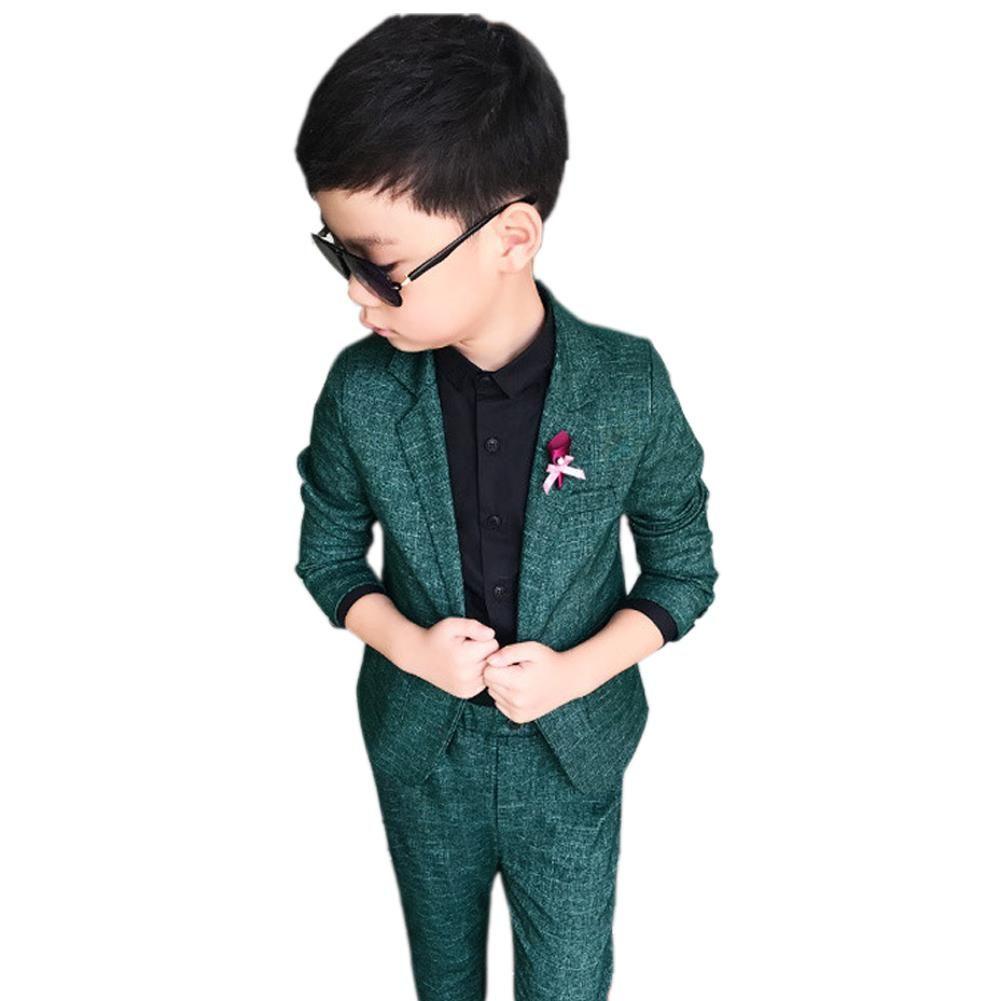 4298bb899 Boy s Blazer Suit Set Gentleman Style Solid Tops Pants Set for 2 ...