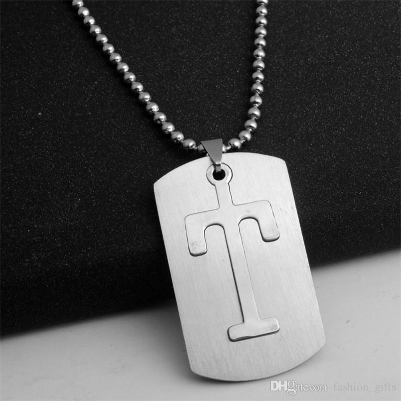 10T detachable stainless steel T 26 English initial letter symbol name sign  necklace American alphabet letter double layer text jewelry