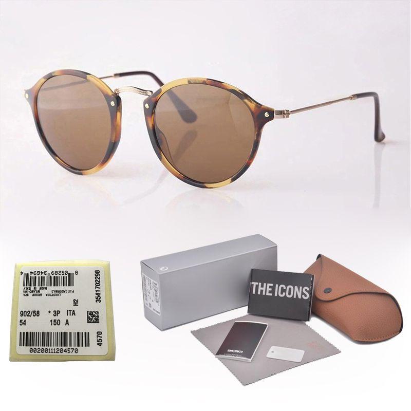 8eb62a1e9d68a Wholesale Brand Designer Classic Round Sunglasses Men Women Vintage Retro  Sun Glasses Driving Eyewear Glass Lenses With Free Cases And Box Cheap  Eyeglasses ...