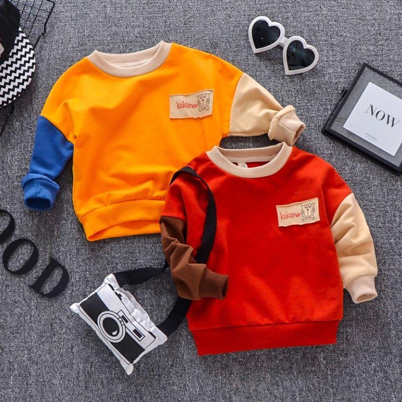 3467c6e44ba2 Boys Cotton Base 2019 New Spring Baby Pullover Clothing Children S ...