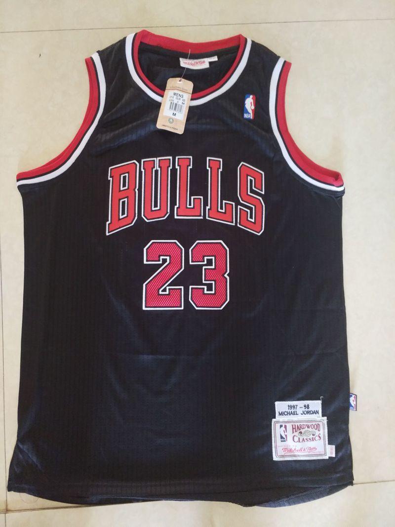 huge discount f29c3 a1882 2019 Men's New Chicago Basketball Bulls Michael 23 Jersey Dense AU Fabric  men Black