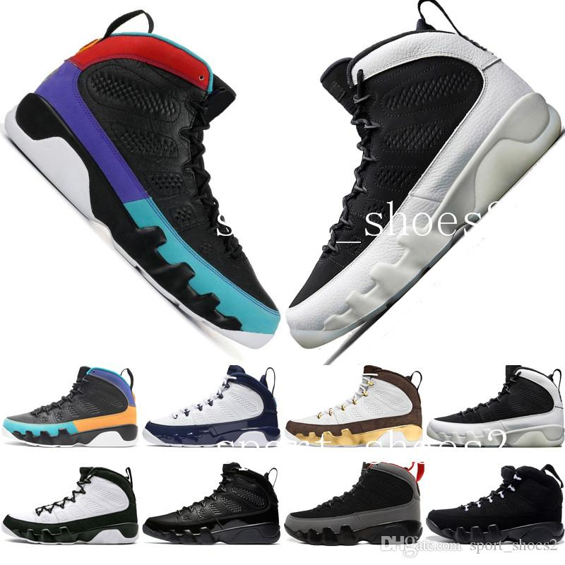 Newest 9 9s Dream It Do It UNC Mop Melo Mens Motorcycle Boots LA OG Space Jam men Bred The Spirit Anthracite sports sneakers designer US7-13