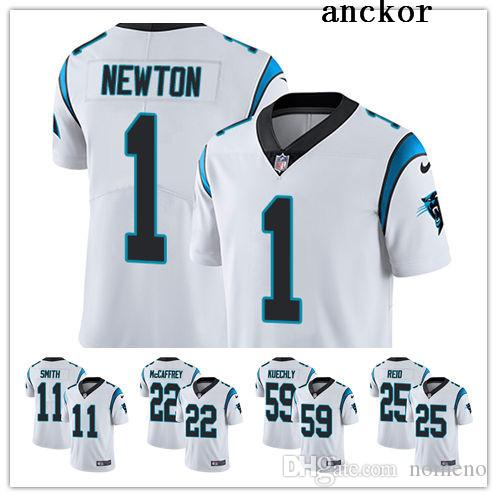 8f632f37f69 2019 Carolina MEN WOMEN YOUTH 22 Christian McCaffrey 1 Cam Newton Limited  Road Jersey Football Panthers White Vapor Untouchable From Faded_jersey, ...