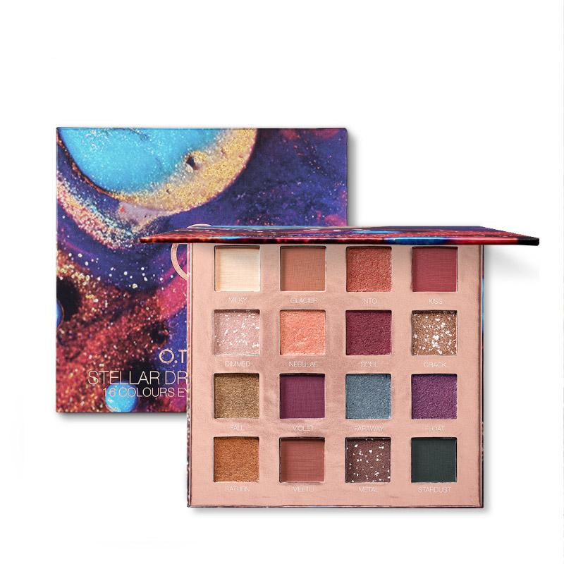 Stardream Strange luck 16 colors Eyeshadow Peach Blossom  Pearl light Earth color Beginner Eye shadow
