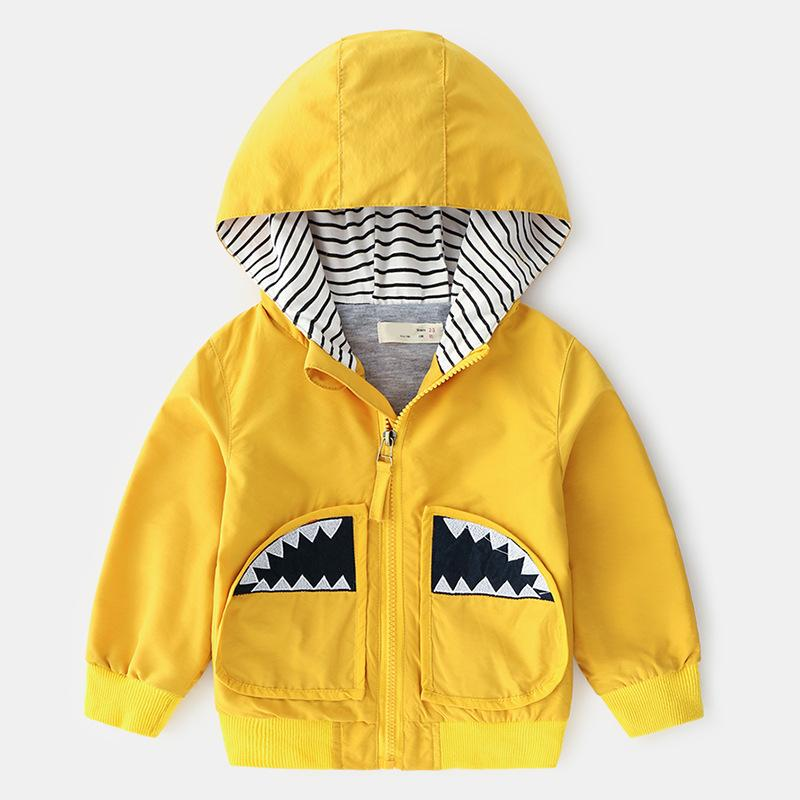 a0ae46cc4a9e 2019 New Spring Autumn Boys Cartoon Jacket Zipper Baby Cotton Hooded ...