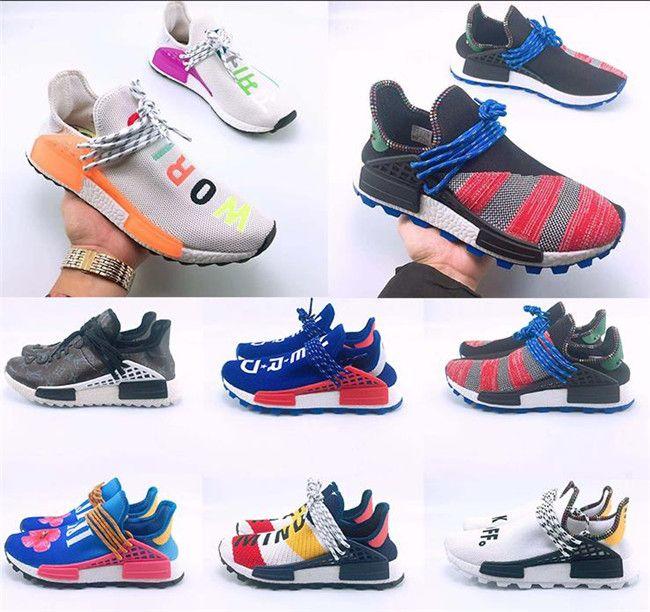 f9d45afa1 2018 Human Race Hu Trail X Pharrell Williams Nerd Men Casual Shoes Black  White Cream SOLAR PACK Mens Trainers For Women Sports Sneaker 5 13 Boat  Shoes Shoes ...