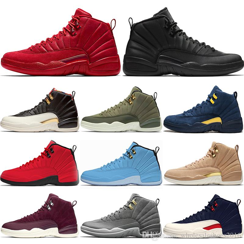 pretty nice 919a1 191f3 Copa Mundial Nike Air Jordan Retro Designer 12 12s Uomo Scarpe Da  Pallacanestro Classe CP3 Del 2003 Michigan Bulls Red University Blu College  Navy Top ...
