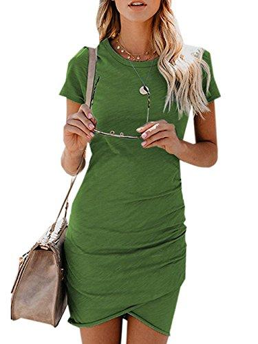 27be6eb475d7 Voopptaw Womens Dress Summer Casual Short Sleeve Irregular Solid Color  Bodycon Mini Dress Voopptaw Womens Work Casual Bodycon Online with   32.99 Piece on ...