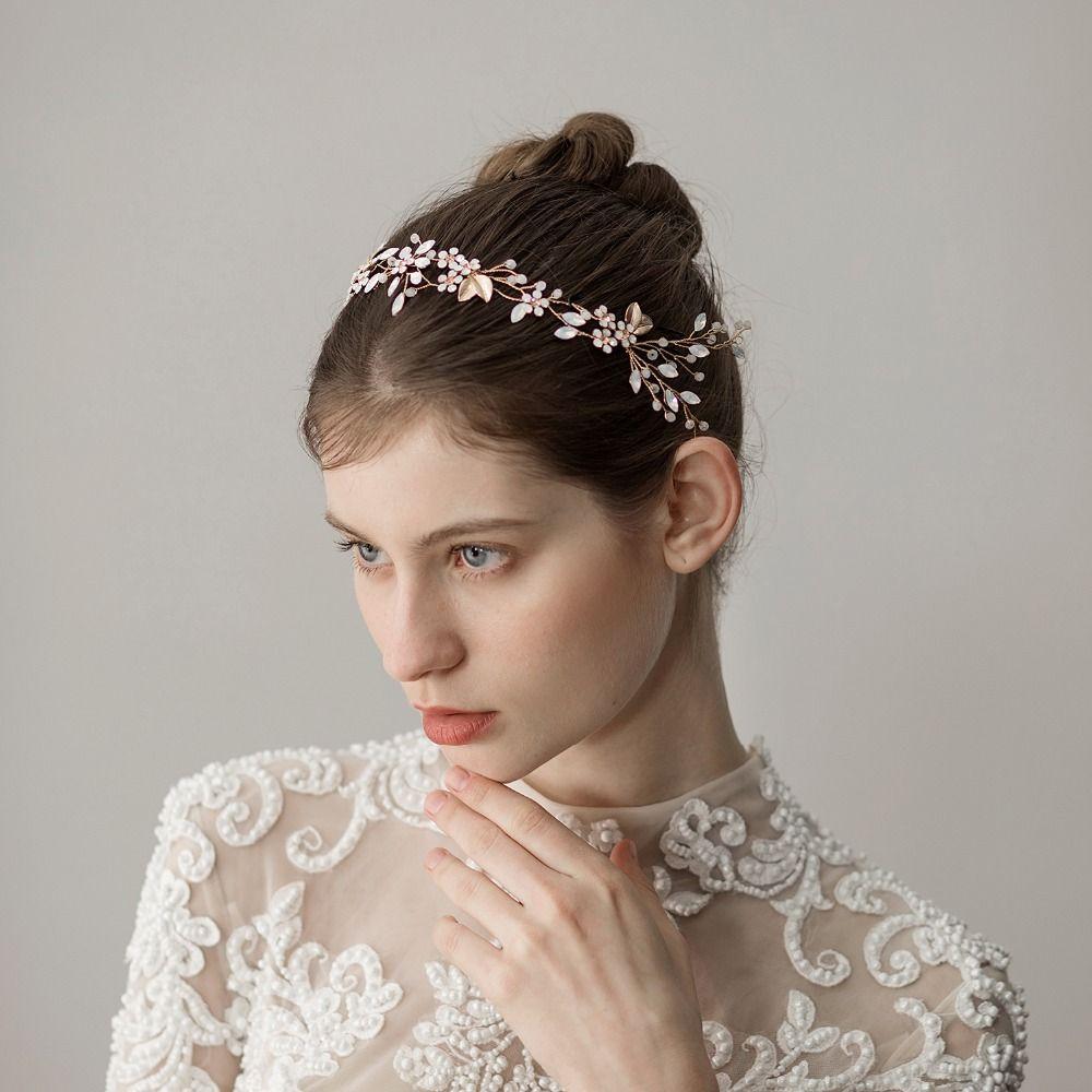 2019 Fashion Wedding Headbands Bridal Ornaments Beautiful Leaves Headbands  Women Hair Band Rhinestone Elegant Bride Accessories From Pickled 90bba0eb9bd