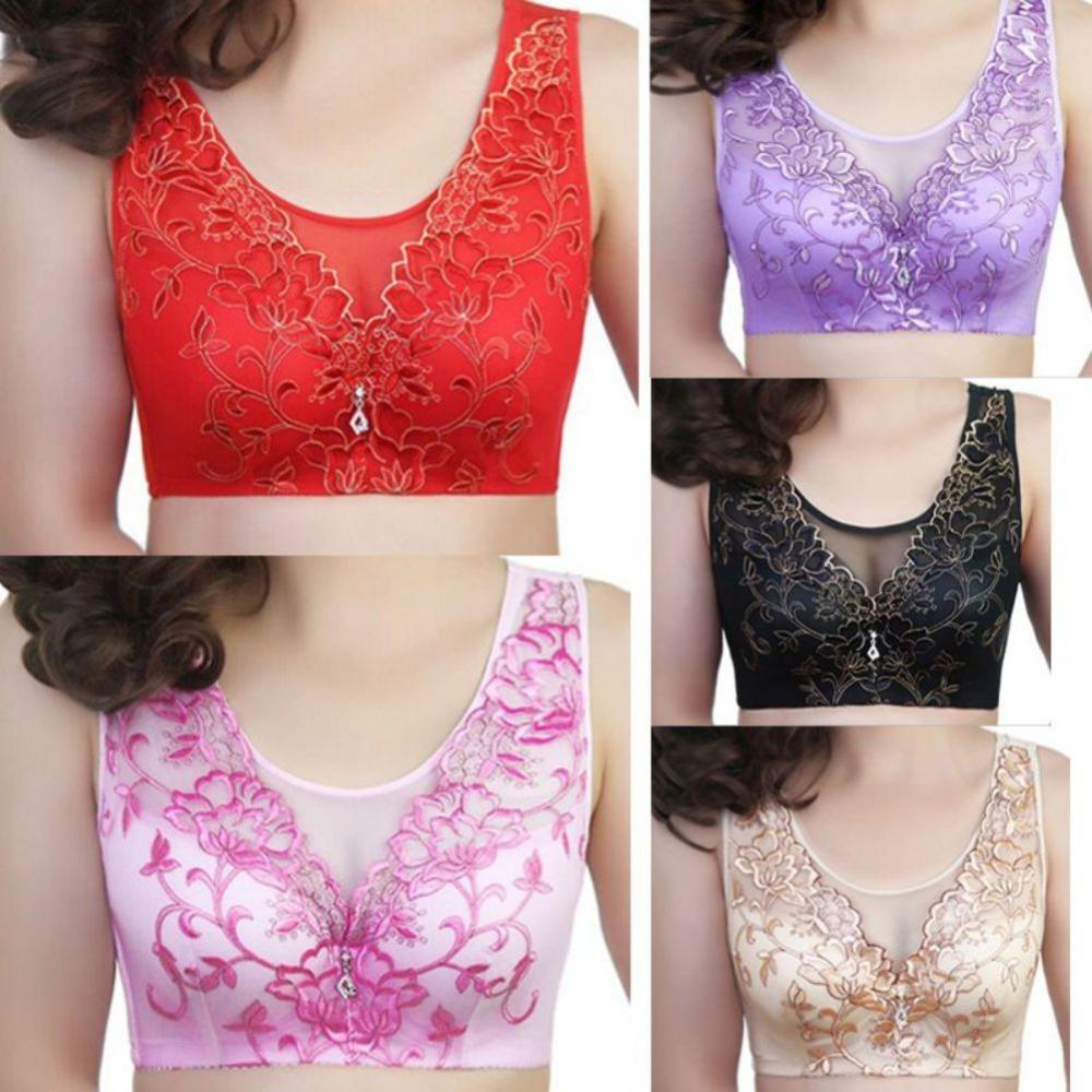 1a5e76df50b 2019 Sexy Mesh Lace Bra Femme Vest Bra Big Size Underwear For Women Brassiere  Underwire Wide Sheer Bras Tops Plus Size Bralett From Homedress, ...