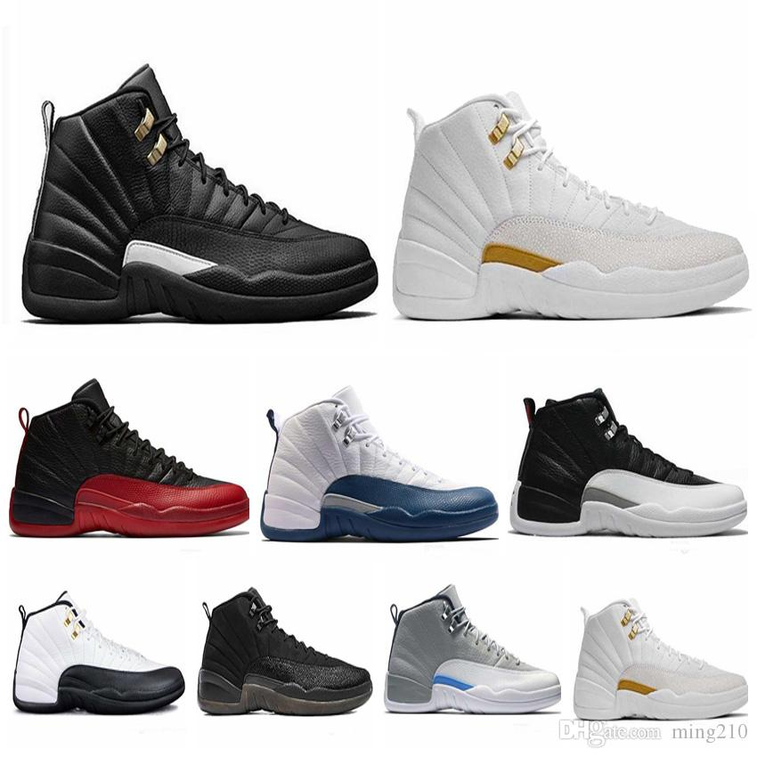 3046e6799d97df 12 12s Mens Basketball Shoes Sneakers OVO White Gym Red Dark Grey Women Basketball  Shoes Taxi Blue Suede Flu Game CNY Mens Shoes Size 13 Buy Shoes Online ...