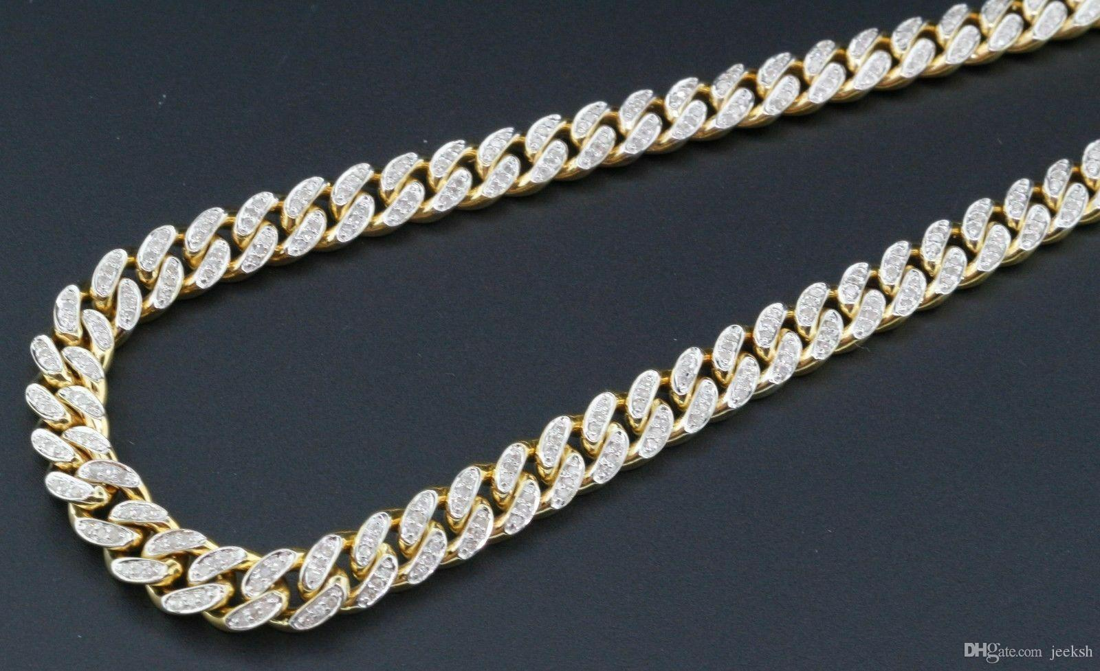 Genuine Diamond Miami Cuban Chain 3 Ct. 10K Yellow Gold 6.25mm 26 Inch Necklace