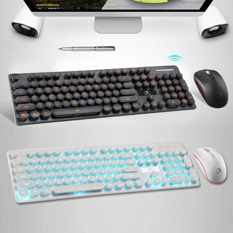 N528 Wireless Keyboard and Mouse Combo 2.4GHz Rechargeable Keyboard Mouse Powerful Compatibility System Can Be Charged