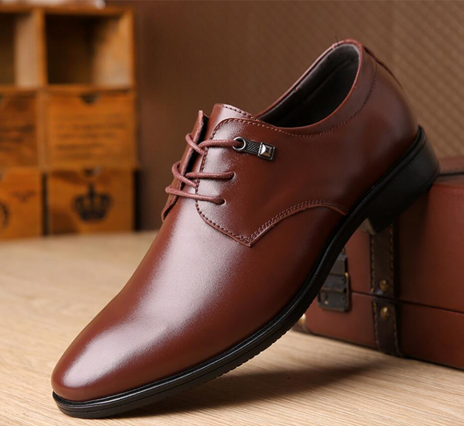 12680eab066f 2019 Men Wedding Dress Leather Shoes Men S Footwear Business Adult Formal  Male Sapato Oxford Social Shoes Chaussure Home Calzado Wedges Shoes White  Shoes ...