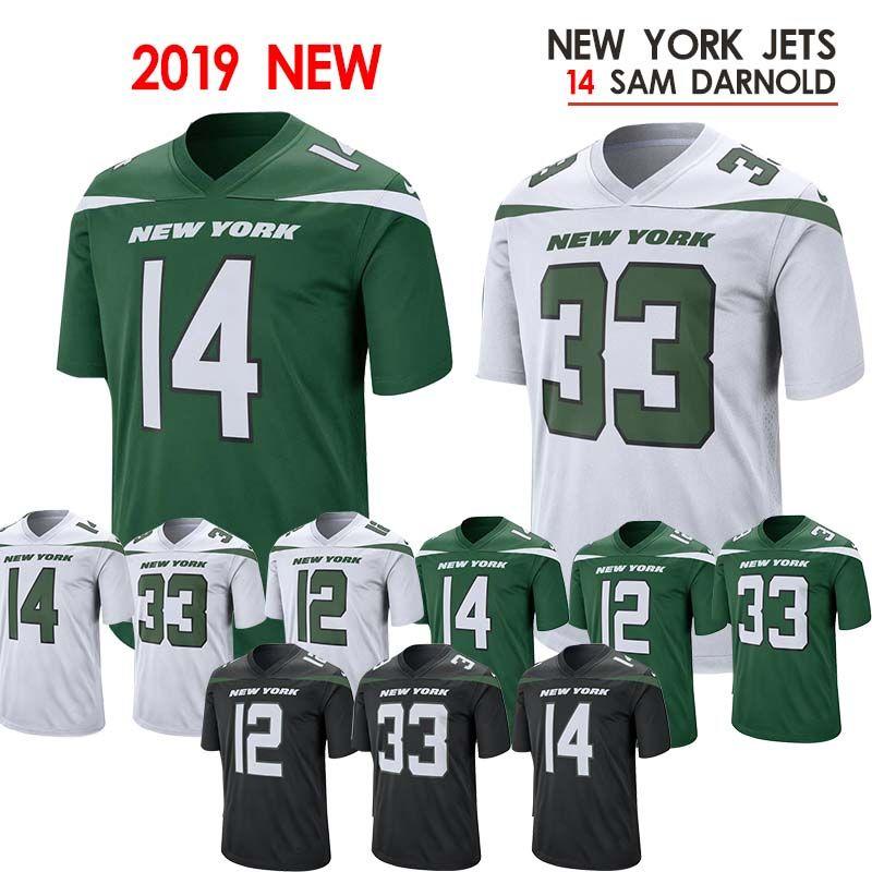 new concept c8658 43865 new2019 14 Sam Darnold Jets jerseys 33 Jamal Adams jersey 12 Joe Namath  jersey 11 Robby Anderson