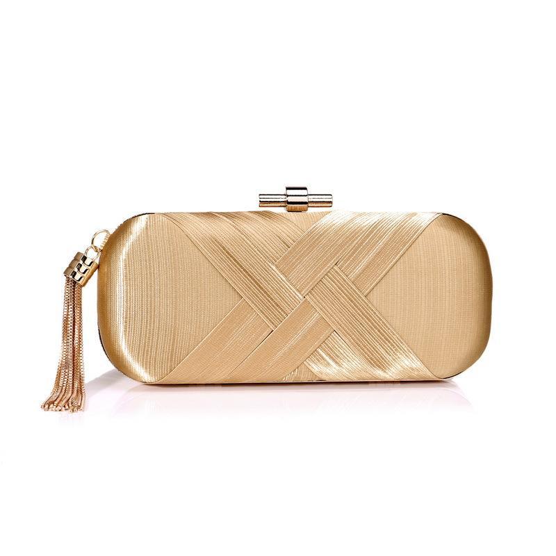 Luxurious Tassel Women Evening Bags Metal Fashion Clutches Purse For ... cb539f1f3cd0