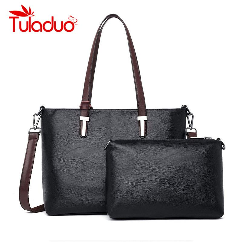 New Fashion Women Leather Handbags High Quality Totes Bag Ladies Shoulder  Hand Bags 2019 Large Capacity Designer Bolsa Feminina Shoulder Bags Cheap  Shoulder ... 13c2a80a17958