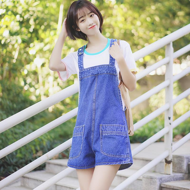 44de169a133b 2019 Romper Women Denim Overalls Summer Jean Jumpsuit Female Wide Leg  Playsuit Casual Loose Short Jumpsuit Pockets Macacao Feminino From Silan